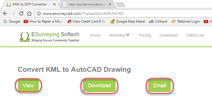 Online application convert kml file to autocad drawing for Convert kmz to dwg