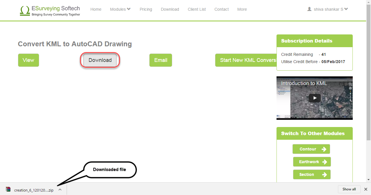 Online Application – Convert KML file to AutoCAD Drawing - ESurveyCAD