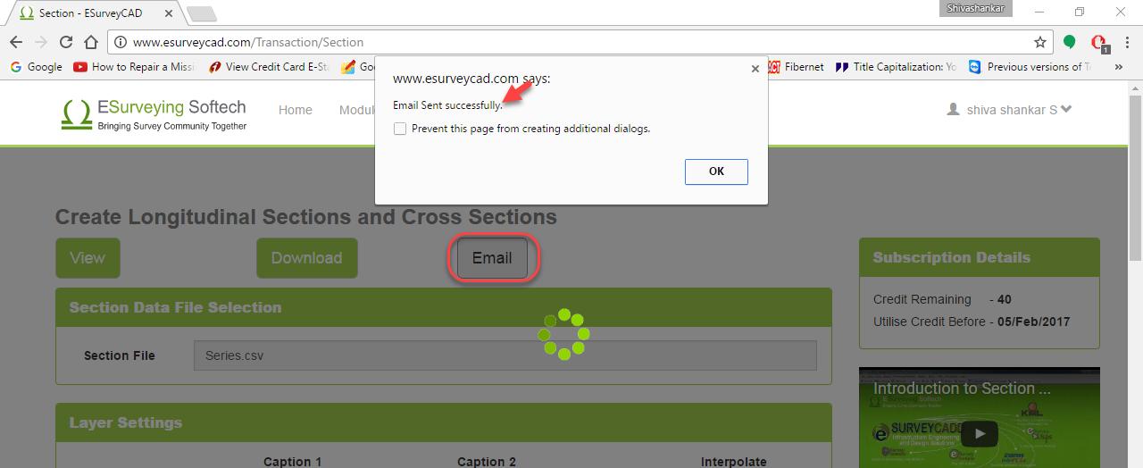 Online Application – Create LS & CS (Cross Section) - ESurveyCAD